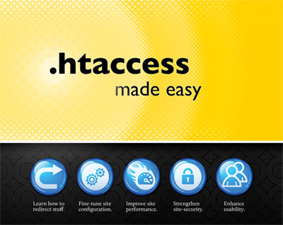 [ Screenshot: .htaccess made easy - front cover ]